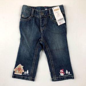 Gymboree 6-12 M Gingerbread Snowman Jeans